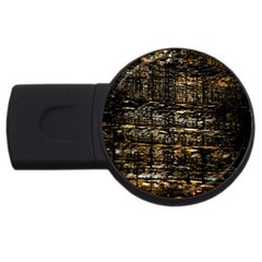 Wood Texture Dark Background Pattern Usb Flash Drive Round (2 Gb) by Nexatart