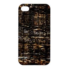 Wood Texture Dark Background Pattern Apple Iphone 4/4s Premium Hardshell Case by Nexatart