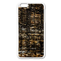 Wood Texture Dark Background Pattern Apple Iphone 6 Plus/6s Plus Enamel White Case by Nexatart