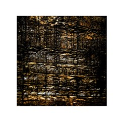 Wood Texture Dark Background Pattern Small Satin Scarf (square) by Nexatart