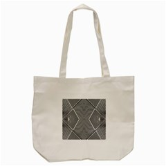 Black And White Line Abstract Tote Bag (cream) by Nexatart