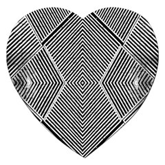 Black And White Line Abstract Jigsaw Puzzle (heart) by Nexatart