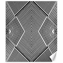 Black And White Line Abstract Canvas 20  X 24   by Nexatart