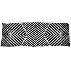 Black And White Line Abstract Body Pillow Case Dakimakura (two Sides)