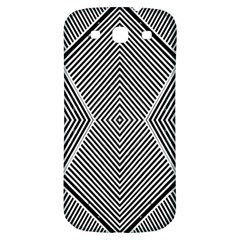 Black And White Line Abstract Samsung Galaxy S3 S Iii Classic Hardshell Back Case by Nexatart