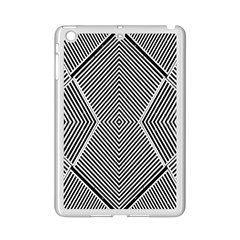 Black And White Line Abstract Ipad Mini 2 Enamel Coated Cases by Nexatart