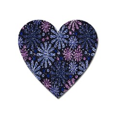 Pixel Pattern Colorful And Glittering Pixelated Heart Magnet by Nexatart