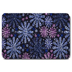 Pixel Pattern Colorful And Glittering Pixelated Large Doormat  by Nexatart