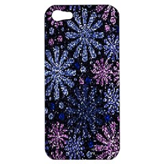 Pixel Pattern Colorful And Glittering Pixelated Apple Iphone 5 Hardshell Case by Nexatart