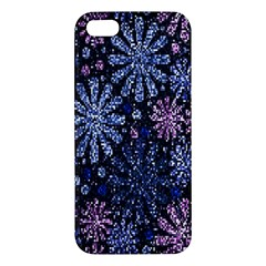 Pixel Pattern Colorful And Glittering Pixelated Apple Iphone 5 Premium Hardshell Case by Nexatart