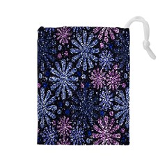 Pixel Pattern Colorful And Glittering Pixelated Drawstring Pouches (large)  by Nexatart