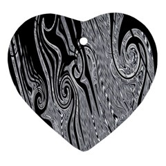 Abstract Swirling Pattern Background Wallpaper Heart Ornament (Two Sides)