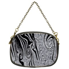 Abstract Swirling Pattern Background Wallpaper Chain Purses (one Side)  by Nexatart