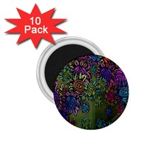 Grunge Rose Background Pattern 1 75  Magnets (10 Pack)  by Nexatart