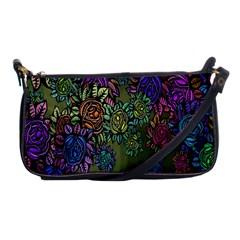Grunge Rose Background Pattern Shoulder Clutch Bags by Nexatart