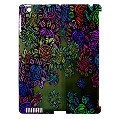 Grunge Rose Background Pattern Apple Ipad 3/4 Hardshell Case (compatible With Smart Cover) by Nexatart