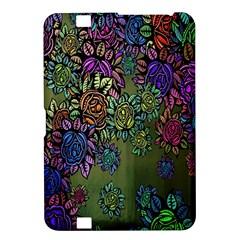 Grunge Rose Background Pattern Kindle Fire Hd 8 9  by Nexatart