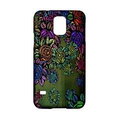 Grunge Rose Background Pattern Samsung Galaxy S5 Hardshell Case  by Nexatart