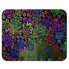 Grunge Rose Background Pattern Double Sided Flano Blanket (medium)  by Nexatart