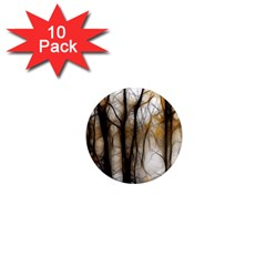 Fall Forest Artistic Background 1  Mini Magnet (10 Pack)  by Nexatart