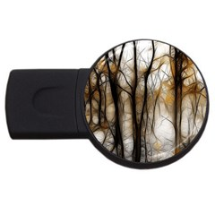 Fall Forest Artistic Background Usb Flash Drive Round (2 Gb) by Nexatart
