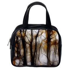 Fall Forest Artistic Background Classic Handbags (one Side) by Nexatart