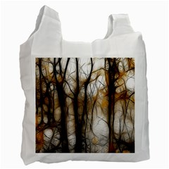 Fall Forest Artistic Background Recycle Bag (two Side)  by Nexatart