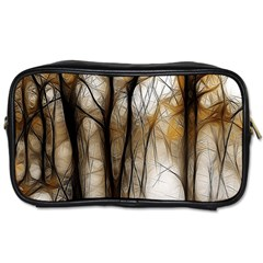 Fall Forest Artistic Background Toiletries Bags by Nexatart
