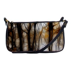 Fall Forest Artistic Background Shoulder Clutch Bags by Nexatart