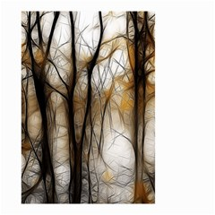 Fall Forest Artistic Background Small Garden Flag (two Sides) by Nexatart