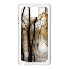 Fall Forest Artistic Background Samsung Galaxy Note 3 N9005 Case (white) by Nexatart
