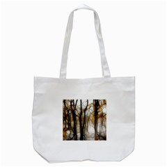Fall Forest Artistic Background Tote Bag (white) by Nexatart