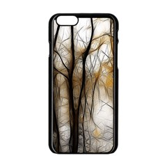 Fall Forest Artistic Background Apple Iphone 6/6s Black Enamel Case by Nexatart