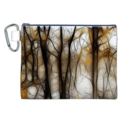 Fall Forest Artistic Background Canvas Cosmetic Bag (xxl) by Nexatart