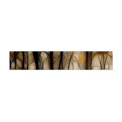 Fall Forest Artistic Background Flano Scarf (mini)