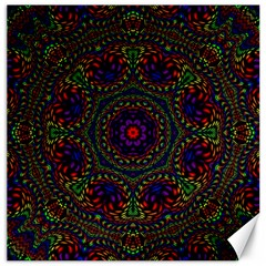 Rainbow Kaleidoscope Canvas 12  X 12   by Nexatart