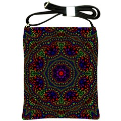 Rainbow Kaleidoscope Shoulder Sling Bags by Nexatart
