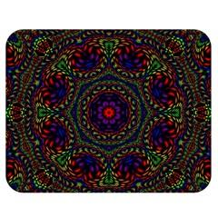 Rainbow Kaleidoscope Double Sided Flano Blanket (medium)  by Nexatart