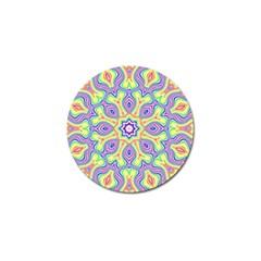 Rainbow Kaleidoscope Golf Ball Marker by Nexatart