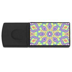 Rainbow Kaleidoscope Usb Flash Drive Rectangular (4 Gb) by Nexatart