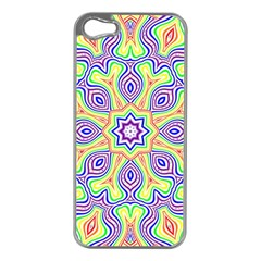 Rainbow Kaleidoscope Apple Iphone 5 Case (silver)