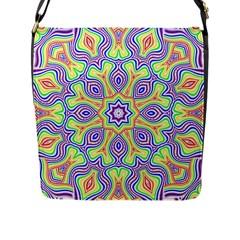 Rainbow Kaleidoscope Flap Messenger Bag (l)  by Nexatart
