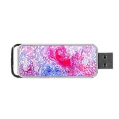 Glitter Pattern Background Portable Usb Flash (one Side) by Nexatart