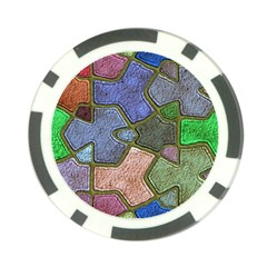 Background With Color Kindergarten Tiles Poker Chip Card Guard (10 Pack) by Nexatart