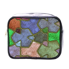 Background With Color Kindergarten Tiles Mini Toiletries Bags by Nexatart