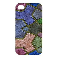 Background With Color Kindergarten Tiles Apple Iphone 4/4s Premium Hardshell Case by Nexatart