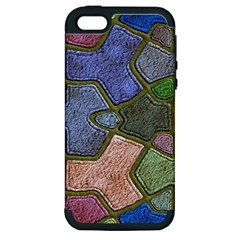 Background With Color Kindergarten Tiles Apple Iphone 5 Hardshell Case (pc+silicone) by Nexatart