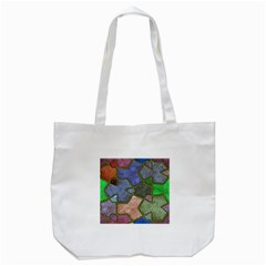 Background With Color Kindergarten Tiles Tote Bag (white) by Nexatart