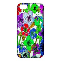Background Of Hand Drawn Flowers With Green Hues Apple Iphone 5c Hardshell Case by Nexatart