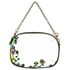 Floral Border Cartoon Flower Doodle Chain Purses (two Sides)  by Nexatart